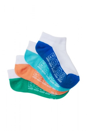Bonds Kids Logo Lite Trainer Sport Socks 4 Pack Pack 16 RYR84N 16K