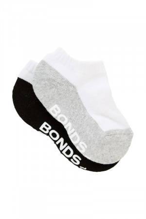 Bonds Baby Logo Low Cut Socks 2 Pack Pack 15