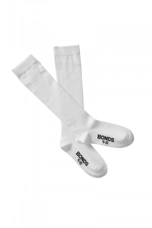 Bonds Kids School Knee High 2 Pack White RYVT2W WHI