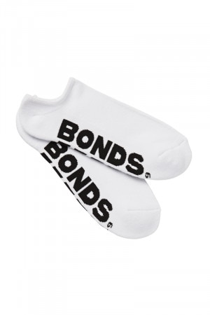 Bonds Mens Logo No Show Sport Socks 3 Pack Assorted 1 S8363N AS1