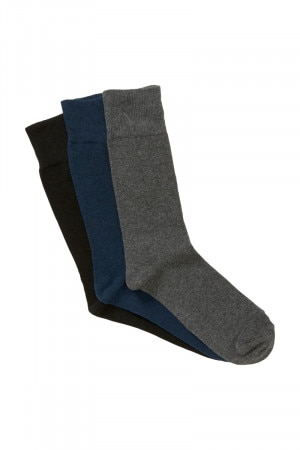 Bonds Mens Everyday Crew Socks 3 Pack Pack 02 S8471N 02K