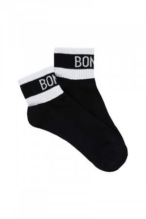 Bonds Mens Street Quarter Crew Socks 2 Pack Black