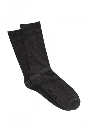 Bonds Mens Pillow Feet Socks 2 Pack Charcoal Marle