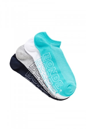 Bonds Mens Logo Lite No Show Sport Socks 4 Pack Pack 06