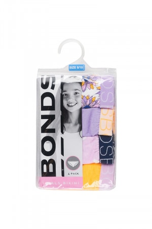 Bonds Girls Bikini 4 Pack Flower Child Pink Posy