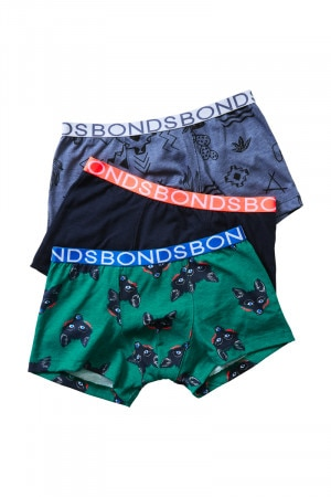 Bonds Boys Trunk 3 Pack Spot The Fox