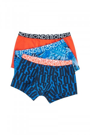 Bonds Boys Trunk 3 Pack Palm Camo