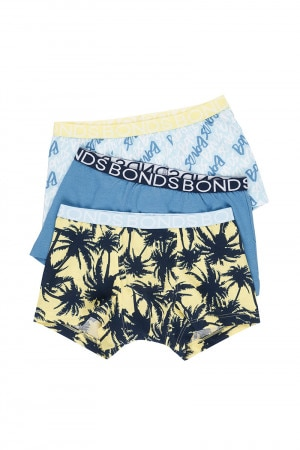 Bonds Kids Trunk 3 Pack Palm Daze Banana Cream