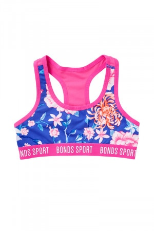 Bonds Girls Sport Micro Racer Crop Neo Orient