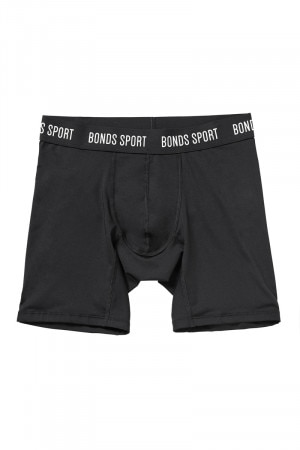 Bonds Boys Sport Long Leg Micro Trunk Black