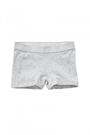 Bonds Girls Active Racer Short Luxe Grey Marle UY6E1A RGP