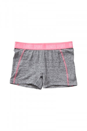 Bonds Girls Cool Sport Shortie Granite Marle