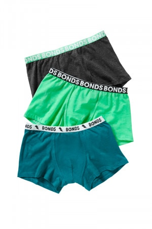 Bonds Boys Fun Pack Trunk 3pk Assorted 40