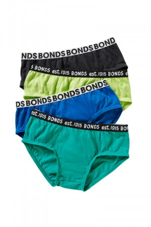 Bonds Boys Fun Pack Briefs 4 Pack Assorted 42 UY834A T2E