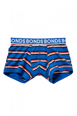 Bonds Boys Fit Trunk Blue, Red & White Stripe UY9X1A 37R