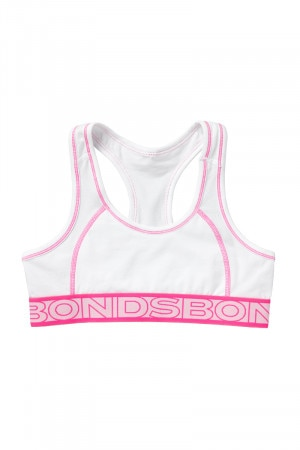 Bonds Girls Sporty Play Racer Crop White UYAN1A WIT