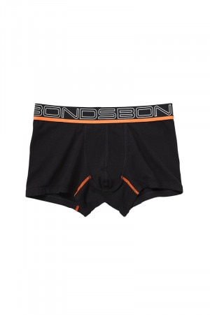 Bonds Boys Sporty Performance Trunk Black & Orange UYAP1A 931