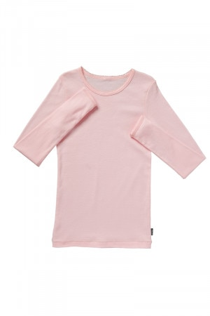Bonds Girls Cotton Long Sleeve Layer Top Pink Blossum