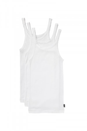 Bonds Girls Teena Singlet 3PK White
