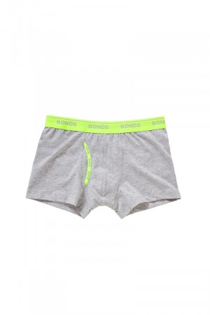 Bonds Boys Guyfront Trunk New Grey Marle
