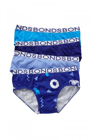 Bonds Boys Multipack Brief 4pk