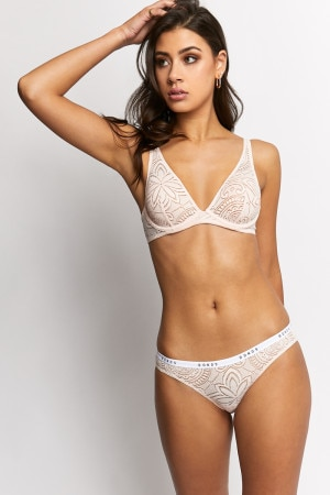 Bonds Intimately Micro Lace Bikini Rocksalt