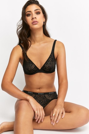 Bonds Intimately Deep V Bra Black