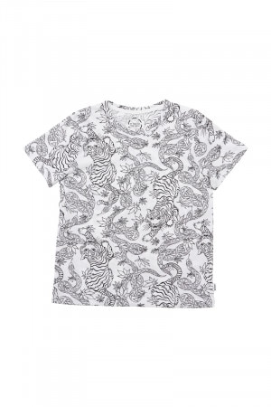 Bonds Kids Aussie Cotton Crew Washed Tee Oriental Jungle Sketch KXEEK 1GB