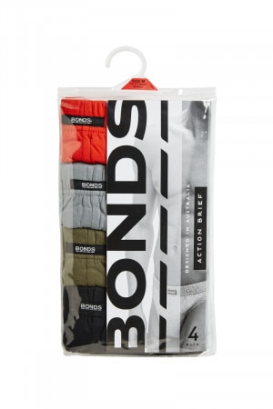 Bonds Action Bikini Brief 4pk Pack A M8OS4 PKA