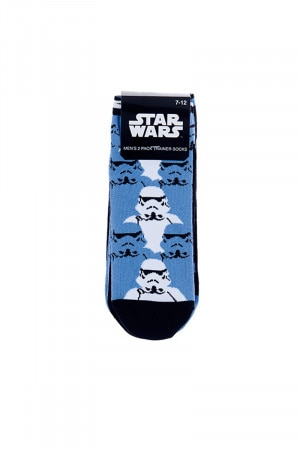 Star Wars Mens 2 Pack Low Cut