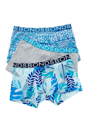 Bonds Boys Trunk 3 Pack Print 83 UXYJ3A 83D