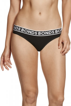 Bonds Cotton Bikini Black WX73A BAC