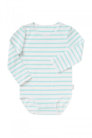 Bonds Wonderbodies Long Sleeve Bodysuit Spritz Blue