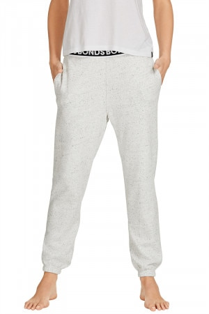 Bonds Jogger Trackie Speckled Snow Marle