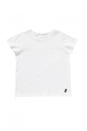 Bonds Kids Short Sleeve Pocket Tee White