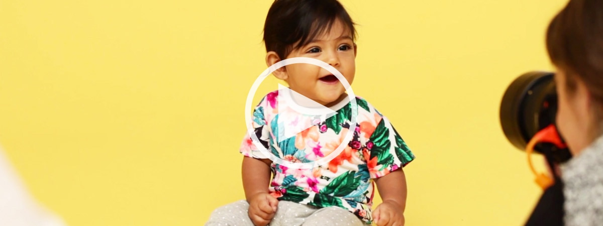 See behind the scenes of this years Baby Search winners photoshoot