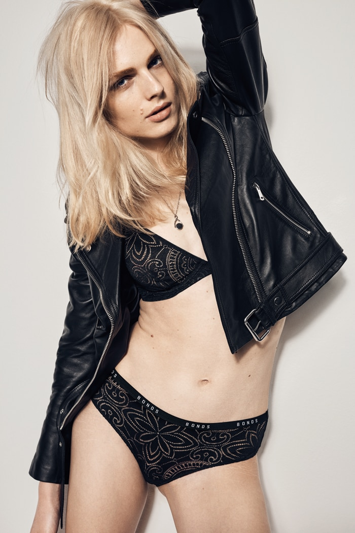 Andreja Pejic for Bonds Intimately campaign