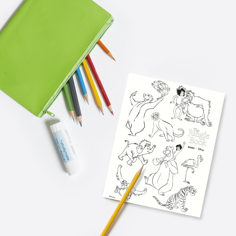 Free colouring page download print for kids