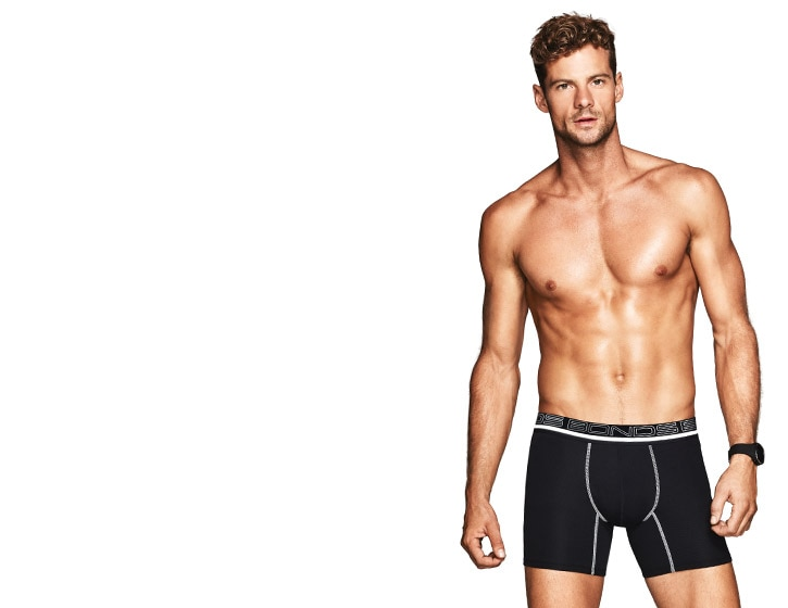 Sport Undie Support. Warm up and work out in Sport Trunks.